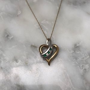 Two-Toned Emerald and Diamond Necklace